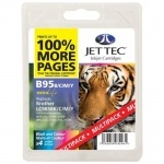 Jettec Compatible 4 Colour Brother LC985 Ink Cartridge Multipack - (LC985BK/C/M/Y)